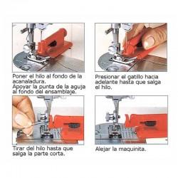 Enhebrador agujas máquina