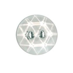 Botón transparente facetado