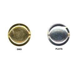 Botón metal plano (redondeado)