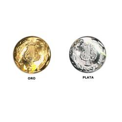Botón metal lira