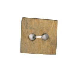 Botón coco natural cuadrado
