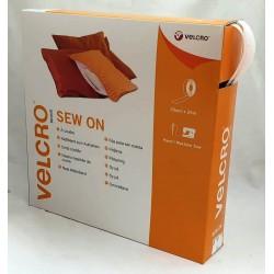 Velcro coser en caja