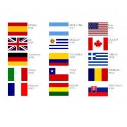 Aplique bandera mascarilla