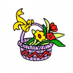 Aplique cesto flores...