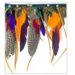 Fleco plumas y metal