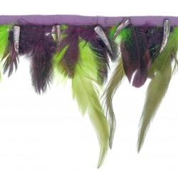 Fleco plumas y nácar