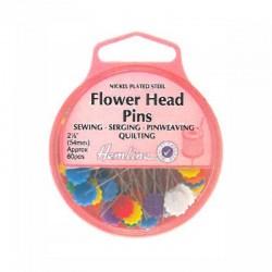 Alfileres cabeza de flor plana