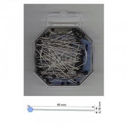 Alfileres cabeza cristal