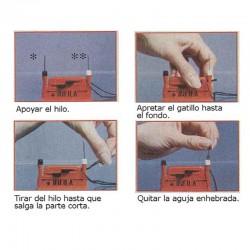 Enhebrador agujas automático